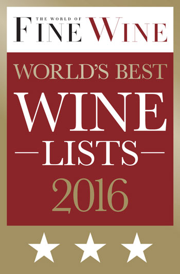 World Of Fine Wine 2016 3 Star Award