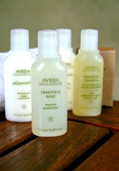 amenities, guestroom amenities, toiletries, aveda spa amenities