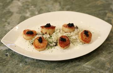 """Cookin' It Up"" With Chef Corey Video Series: Caviar-Truffle Risotto and Scallops"