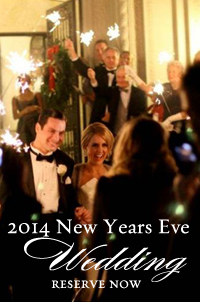 Book your 2014 New Years Eve Wedding