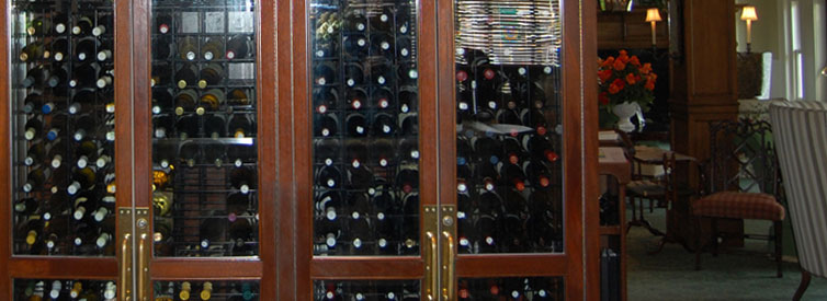 A peek into the wine cellar at the Bernards Inn